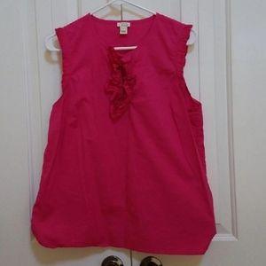 J.Crew Factory Pink Sleeveless Blouse Size 12